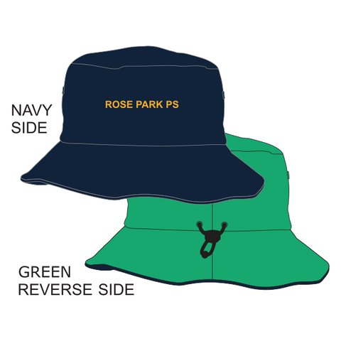Rose Park PS | Reversible Bucket Hat - Navy/Green