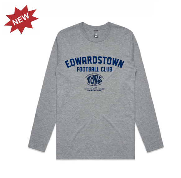 Edwardstown FC | Cotton Tee - Long Sleeve - Unisex