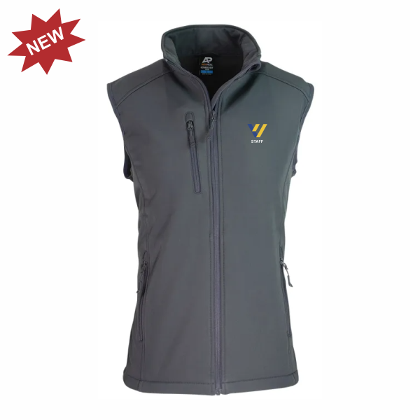 Valley View Secondary | STAFF Softshell Vest - Slate