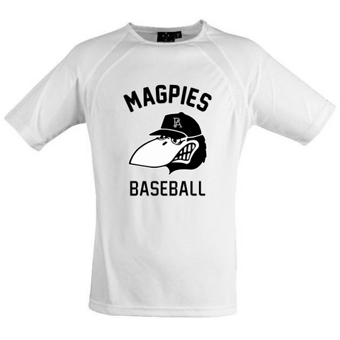 Port Adelaide Magpies Baseball | Tee - White