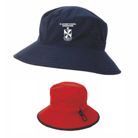 St Anthonys Edwardstown | Bucket Hat - Reversible - Navy/Red