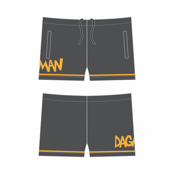 Dagman | Shorts - Grey/Orange
