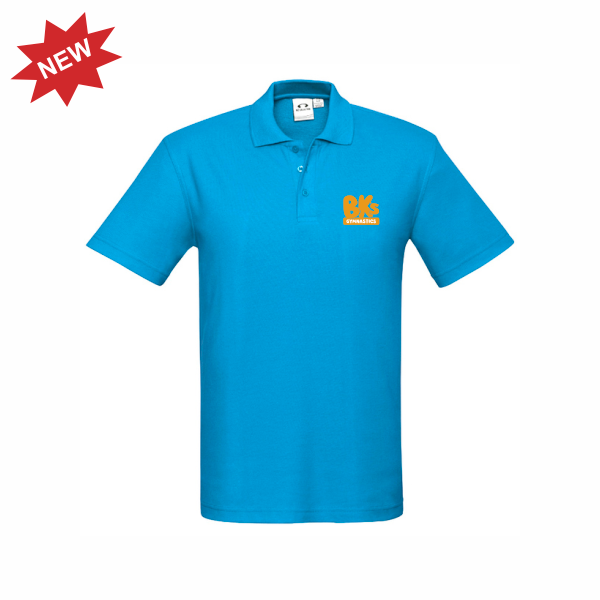 BK Gymnastics | STAFF Crew Polo - Cyan - Mens