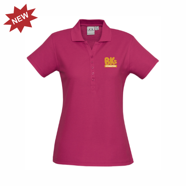 BK Gymnastics | STAFF Crew Polo - Fuschia - Ladies