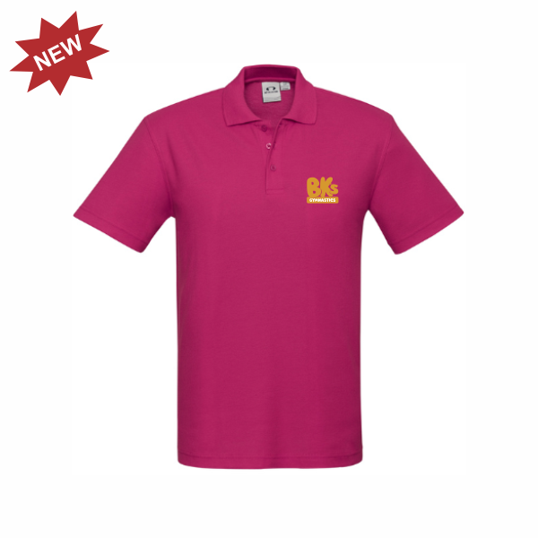 BK Gymnastics | STAFF Crew Polo - Fuschia - Mens