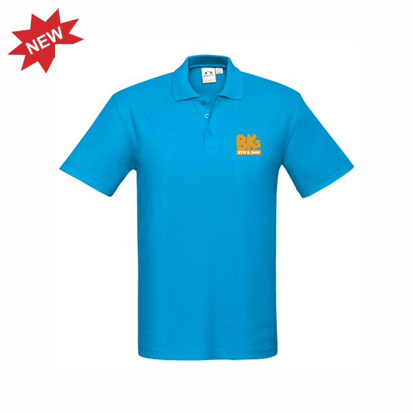 BK Gym & Swim | STAFF Crew Polo - Cyan - Mens