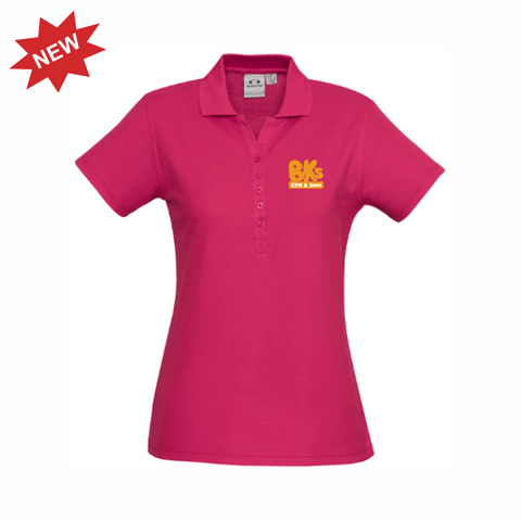 BK Gym & Swim | STAFF Crew Polo - Fuschia - Ladies