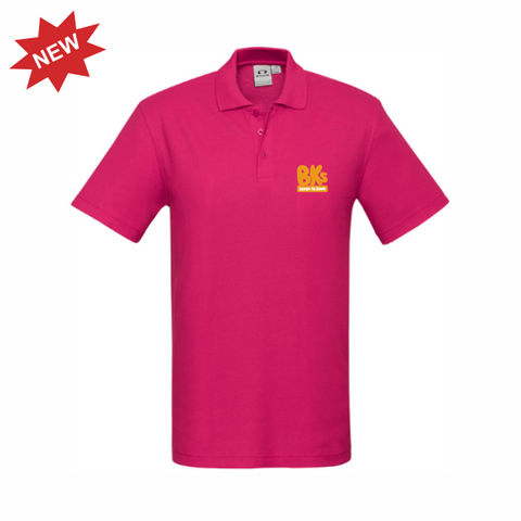 BK Learn To Swim | STAFF Crew Polo - Fuschia - Mens