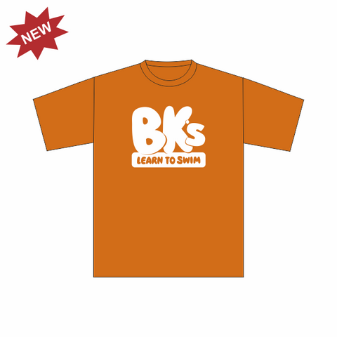 BK Learn To Swim | Kids T-Shirt - Orange