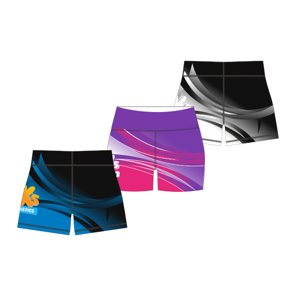 BK Gym Merch (P&S) | Bike Shorts - Crop Boy Leg