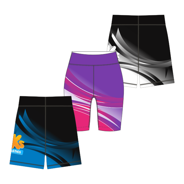 BK Gym Merch (P&S) | Bike Shorts - Long Leg