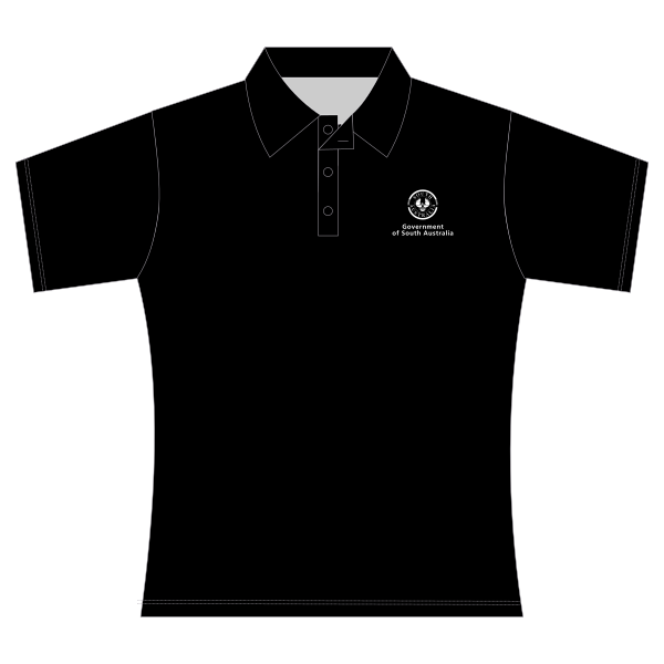 Gov SA | Ladies Polo - Black