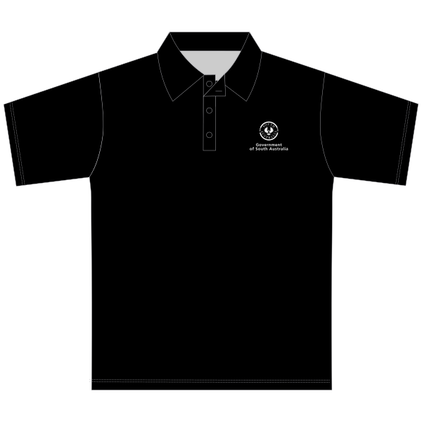Gov SA | Mens Polo - Black