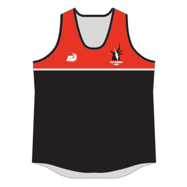 Port Wyndham Crocs FC | All In This Together - Sublimated Singlet - Ladies