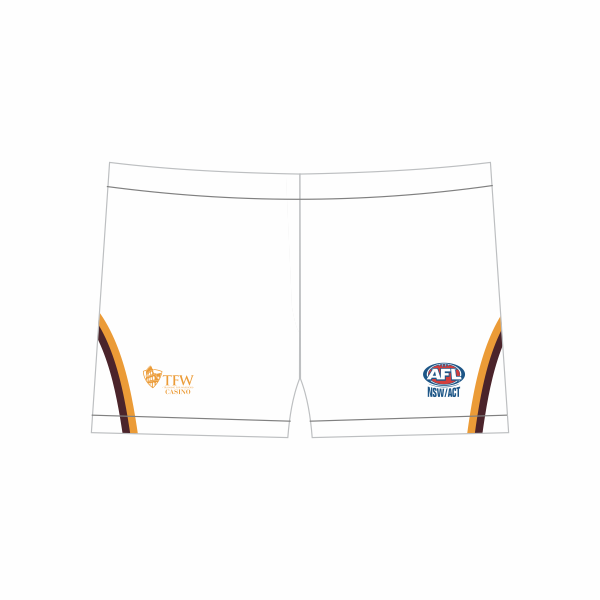 Casino Lions AFL | White Footy Shorts