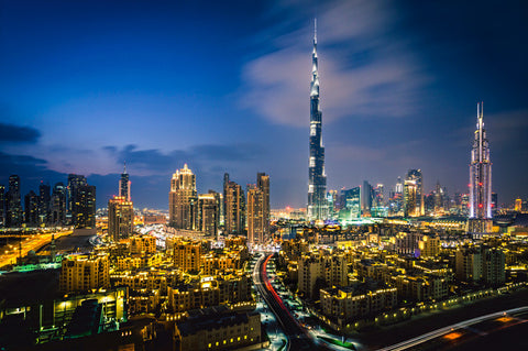 Burj Khalifa & Downtown Dubai – Sunset
