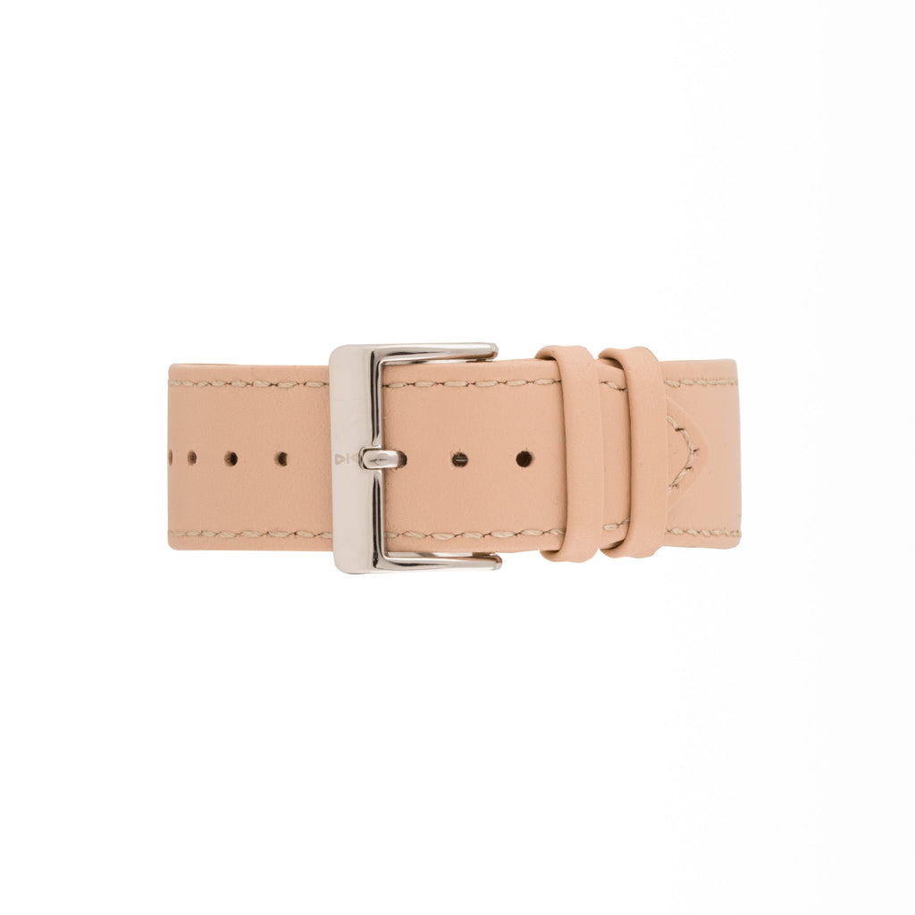 Freebody Nude leather watch strap with silver buckle