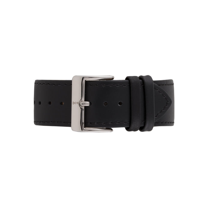 Freebody Black leather watch band