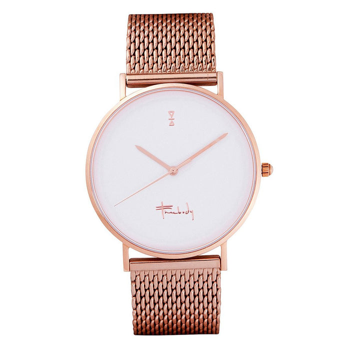 Freebody GS series rosegold metal links watch