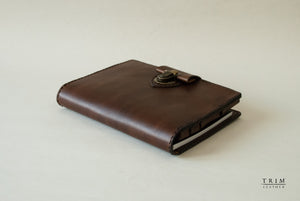 Leather Sketch Book Cover with Pen Holder