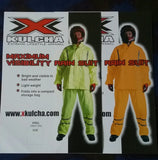 High Visibility Rain Suit / Jacket-Pants / ERSO Orange and Lime / XKULCHA