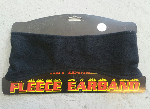 FLEECE EARBAND PLAIN BLACK