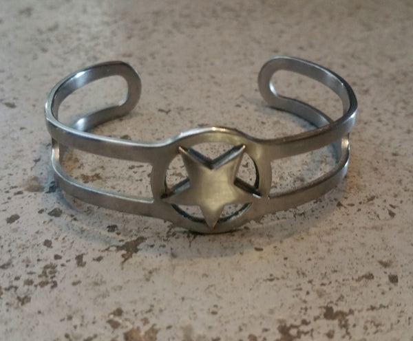 STAR ADJUSTABLE STAINLESS BRACELET - SILVER