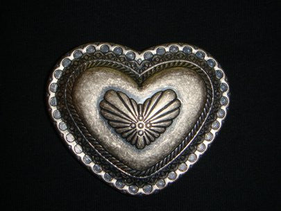 SENDRA BELT BUCKLE CORAZON / HEART SILVER - MADE IN SPAIN