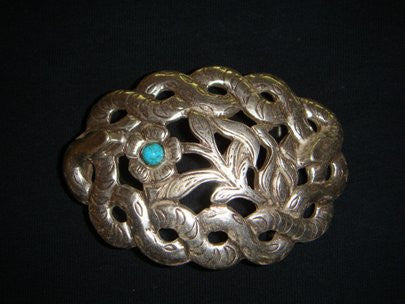 SENDRA BELT BUCKLE SERPIENTE OVAL - SNAKE OVAL TURQUOISE SILVER - MADE IN SPAIN