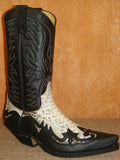 SENDRA CUERVO SPRINTER NEGRO / PYTHON BARR NATURAL LEATHER BLACK-PYTHON /