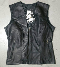 STEALTH LADY LEATHER VEST STUDDED ORNAMENT WINGS