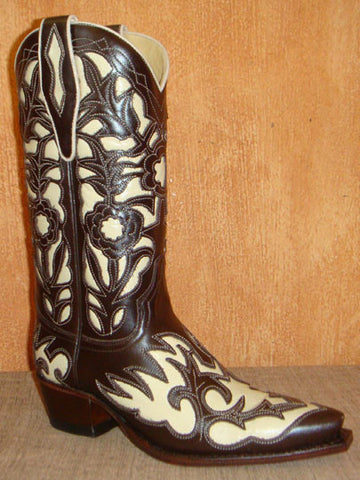 SENDRA JUDY NAPPA BALY CABRA CAFÉ-CABRA HUESO BROWN-WHITE LEATHER / LIMITED EDITION-MADE IN SPAIN