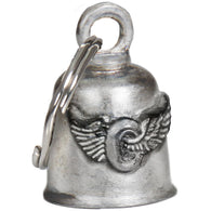"BELL FLYING WHEEL GUARDIAN BELL - PEWTER - 1""X1.5"""