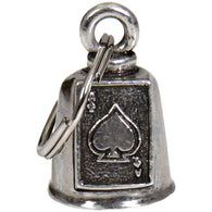 "BELL ACE OF SPADES - GUARDIAN BELL - PEWTER - 1""X1.5"""