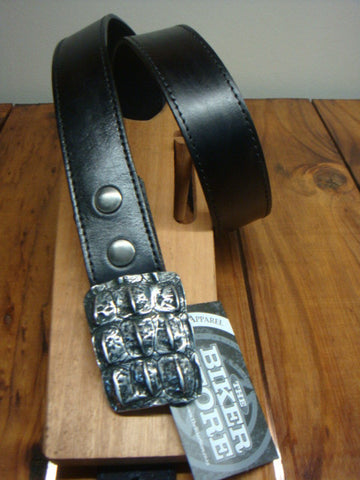BELT - BLACK CROC BUCKLE