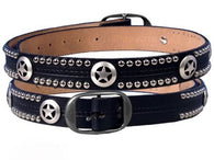 WESTERN STAR AND STUDS LEATHER BELT