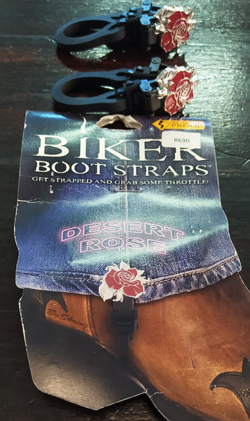 BUNGEE BOOT ROSE - MOTORCYCLE RIDING PANT CLIPS