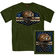 SS CHOPPERS INC VINTAGE GOGGLES T-SHIRT MILITARY GREEN
