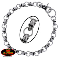 WALLET CHAIN SMALL SKULLS - CHROME