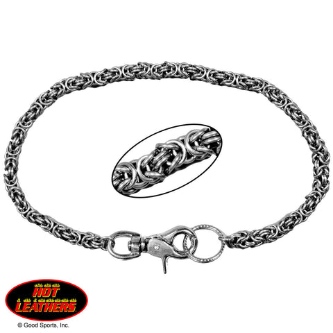 WALLET CHAIN SMALL WEAVE - CHROME