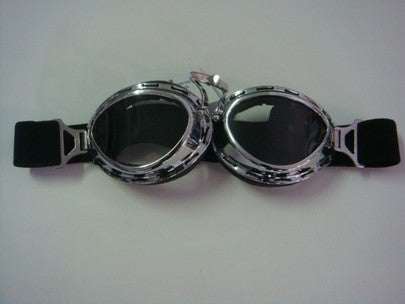 GOGGLE SILVER / CLEAR LENSE BIG FRAME