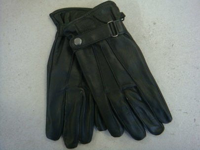 LAMBSKIN LEATHER GLOVES - BLACK