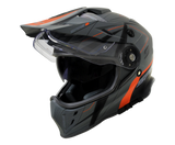 DSV3 - SPIRIT FULL FACE DUAL SPORT 3in1 - INNER VISOR / BLACK/ORANGE