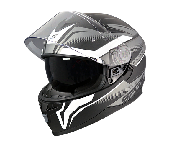 SPIRIT ENCOUNTER SILVER/BLACK/WHITE - FULL FACE HELMET