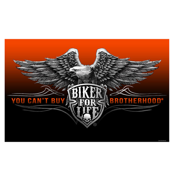 BIKER BROTHERHOOD FULL SIZE BIKER FLAG