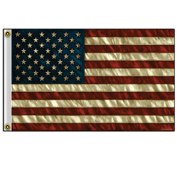 FLAG AMERICAN FLAG DISTRESSED