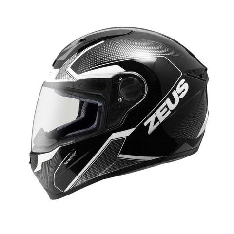 ZEUS ZS-811 HELMET- FULL FACE - BLACK/GREY