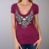 SHORT SLEEVE SKULL WITH ANGEL WINGS