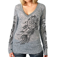 WINDY DREAMCATCHER BURNOUT LONG SLEEVE SHIRT