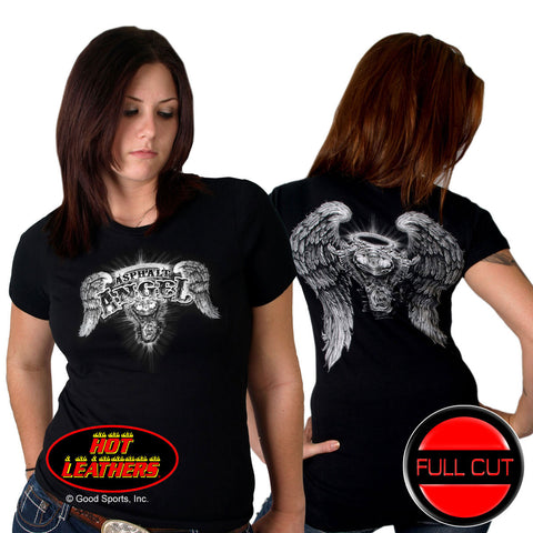 FULL CUT - DOUBLE SIDED ASPHALT ANGEL LADY T-SHIRT
